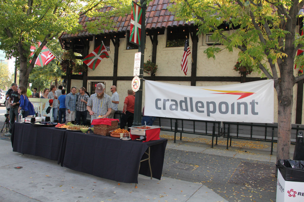 Sign for Cradlepoint block party