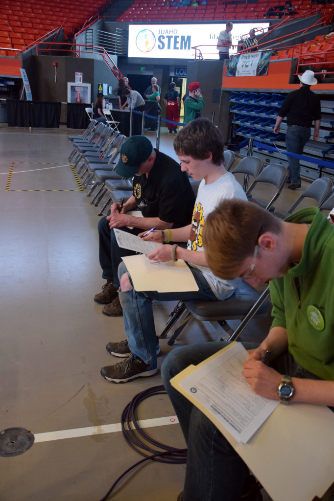 35 Timers Filling Out Paperwork